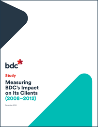 Measuring BDC's Impact on Its Clients (2008-2012)