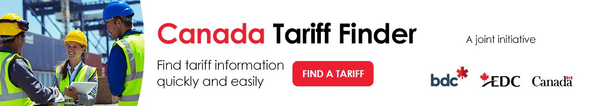 Find tariff information quickly and easily