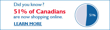 Did you know? 51% of Canadians are now shopping online.