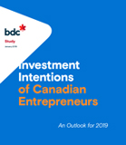 Intentions d'investissement des entrepreneurs canadiens – Perspectives 2019