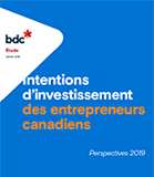 Intentions d'investissement des entrepreneurs canadiens